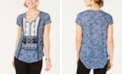 Style & Co Petite Printed Tassel-Tie Top, Created for Macy's