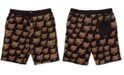 Volcom Big Boys Ozzie Classic-Fit Cat-Print Fleece Shorts