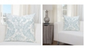 "Siscovers Parlour Mist 20"" Designer Throw Pillow"