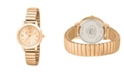 Laura Ashley Rose Gold Stretch Bracelet Watch