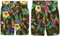 Polo Ralph Lauren Big Boys Kailua Floral-Print Swim Trunks