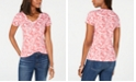 Tommy Hilfiger Cotton Printed V-Neck Top, Created for Macy's