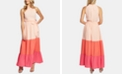 CeCe Ruffled Colorblocked Maxi Dress