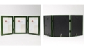 """Lawrence Frames Hinged Triple Green Wood Picture Frame - Gallery Collection - 5"""" x 7"""""""