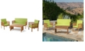 Noble House Carolina Outdoor 4pc Chair Set