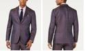 Tallia Men's Slim-Fit Medallion Jacquard Suit Jacket