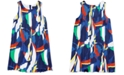 Polo Ralph Lauren Little Girls Sailboat Pleated Satin Dress