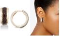 Macy's Leopard Print Hoop Earrings in 18k Gold-Plated Sterling Silver