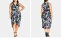 City Chic Trendy Plus Size Belted High-Low Dress