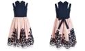Bonnie Jean Big Girls Cutout Strap Soutache Dress