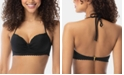 SUNDAZED Nixie Underwire Bra-Sized Halter Bikini Top, Available in D-Cup, Created for Macy's