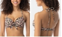 SUNDAZED Ava Printed Ruffled Underwire Bikini Top, Created for Macy's
