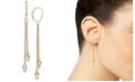 Italian Gold Beaded Drop Earrings in 14k Gold