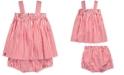 Polo Ralph Lauren Baby Girls Bengal-Striped Cotton Top & Shorts Set