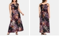 City Chic Trendy Plus Size Printed Keyhole Maxi Dress