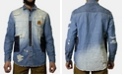 Heritage America Men's Patchwork Destroyed Denim Shirt