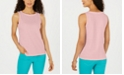 Charter Club Petite Textured Cotton Tank Top, Created for Macy's