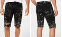 Reason Men's Splattered Ripped Denim Shorts