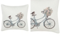 """Laura Ashley Bicycle 20"""" Throw Pillow"""