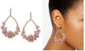 lonna & lilly Gold-Tone Crystal Flower Open Drop Earrings