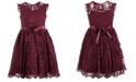 Pink & Violet Little Girls Floral Lace Dress