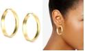 "Anne Klein 1 1/4"" Click-It Hoop Earrings"