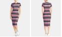 RACHEL Rachel Roy Striped T-Shirt Bodycon Dress