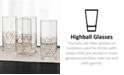 Hotel Collection Gold Decal Highball Glasses, Set of 4, Created for Macy's