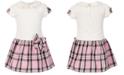 Blueberi Boulevard Little Girls T-Shirt Plaid Dress