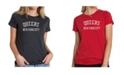LA Pop Art Women's Premium Word Art T-Shirt - Popular Queens Neighborhoods