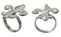 St. Croix KINDWER Nickel Fleur De Lis Napkin Ring