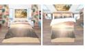 Design Art Designart 'Saguaro Cactus At Colorful Sunset' Tropical Duvet Cover Set - Twin