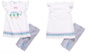 Bonnie Jean Little Girls 2-Pc. Elephant-Print Top & Bike Shorts Set