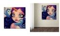 "Trademark Global Natasha Wescoat 'A Little Birdy Told Me' Canvas Art - 24"" x 24"""