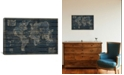 """iCanvas Mappe Monde by Diego Tirigall Gallery-Wrapped Canvas Print - 18"""" x 26"""" x 0.75"""""""