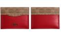 COACH Signature Leather Colorblock Card Case