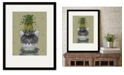 """Courtside Market Cat, Pineapple Puss 16"""" x 20"""" Framed and Matted Art"""