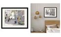 "Courtside Market Paris Street 16"" x 20"" Framed and Matted Art"