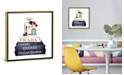 """iCanvas Stack of Fashion Books with Makeup Ii by Amanda Greenwood Gallery-Wrapped Canvas Print - 18"""" x 18"""" x 0.75"""""""