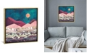 """iCanvas """"Magenta Mountain"""" by Spacefrog Designs Gallery-Wrapped Canvas Print"""