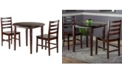 Winsome Wood Clayton 3-Piece Drop Leaf Table with 2 Ladderback Chairs Set