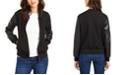 Michael Kors Plus Size Faux-Leather-Sleeve Bomber Jacket