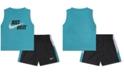 Nike Baby Boys 2-Pc. Logo-Print Muscle Tank Top & Shorts Set