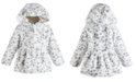 First Impressions Baby Girls Hooded Animal-Print Fur Coat, Created for Macy's