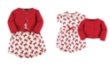 Touched by Nature Organic Cotton Dress and Cardigan Set, Bows, 6-9 Months