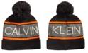 Calvin Klein Men's Jacquard Logo Pom Pom Hat