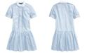 Polo Ralph Lauren Big Girls Cotton Shirting-Strip Dress