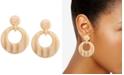 Zenzii Patterned Acetate Doorknocker Drop Earrings
