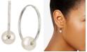 Macy's Cultured Freshwater Pearl (6mm) Hoop Earrings in 14k White Gold