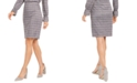 Nine West Metallic Plaid-Print Skirt